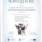 certyfikat Uniwersytet