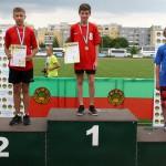 srebrny Maksymilian na podium