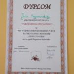 Dyplom - Wyróżnienie Specjalne dla Julii Szymańskiej