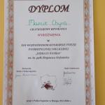 Dyplom - Wyróżnienie dla Marty Chyry