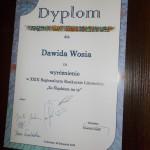 Dyplom dla Dawida Wosia
