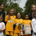 złota sztafeta łubniańskich dziewcząt