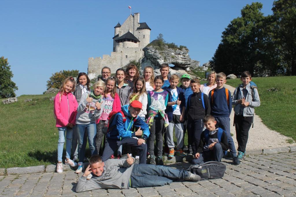 Zamek w Bobolicach, my i piękna słoneczna pogoda.