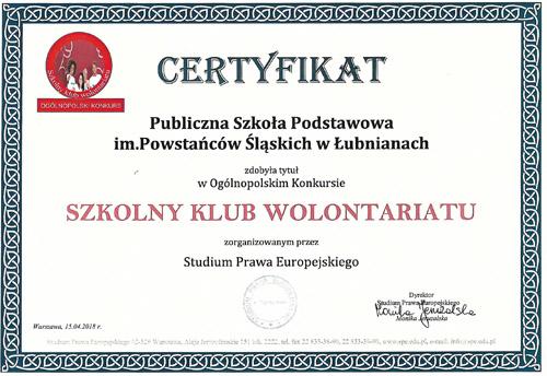 certyfikat SKW