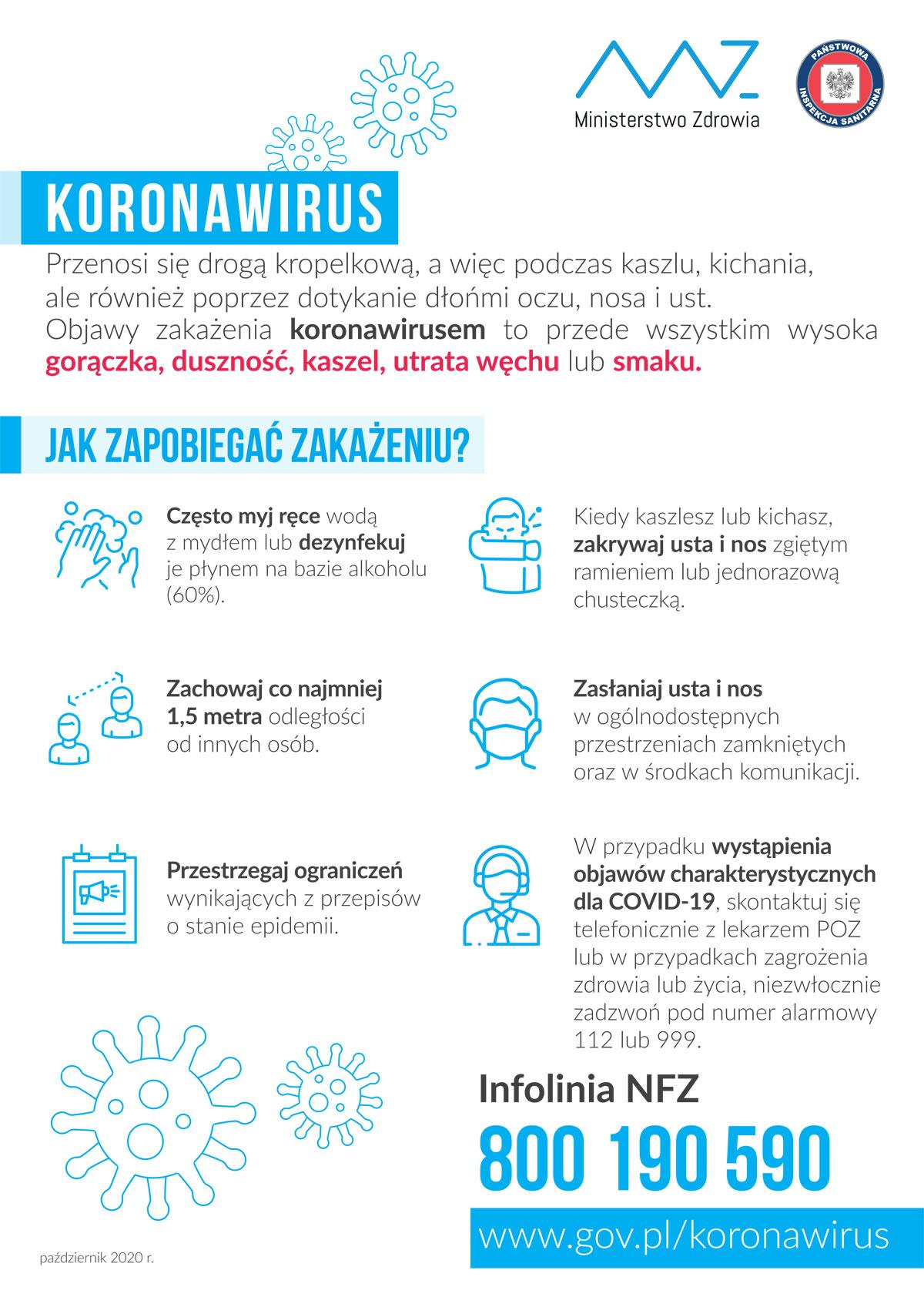 Plakat COVID-19: informacje ogólne