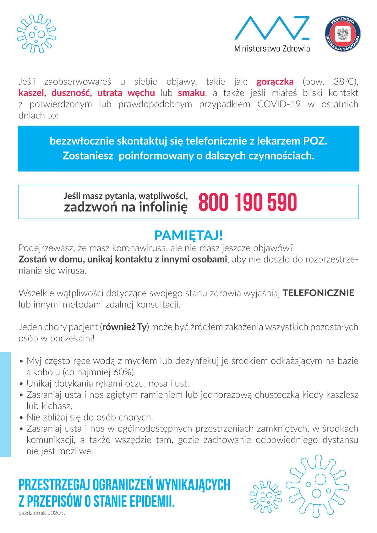 Plakat COVID-19: szpitale