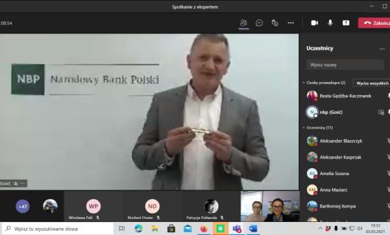 Zastępca prezesa Narodowego Banku Polskiego w Opolu – pan Krzysztof Pasternak