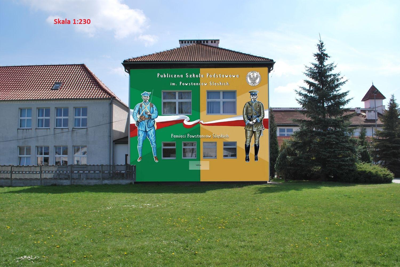 wizualizacja muralu - widok 1
