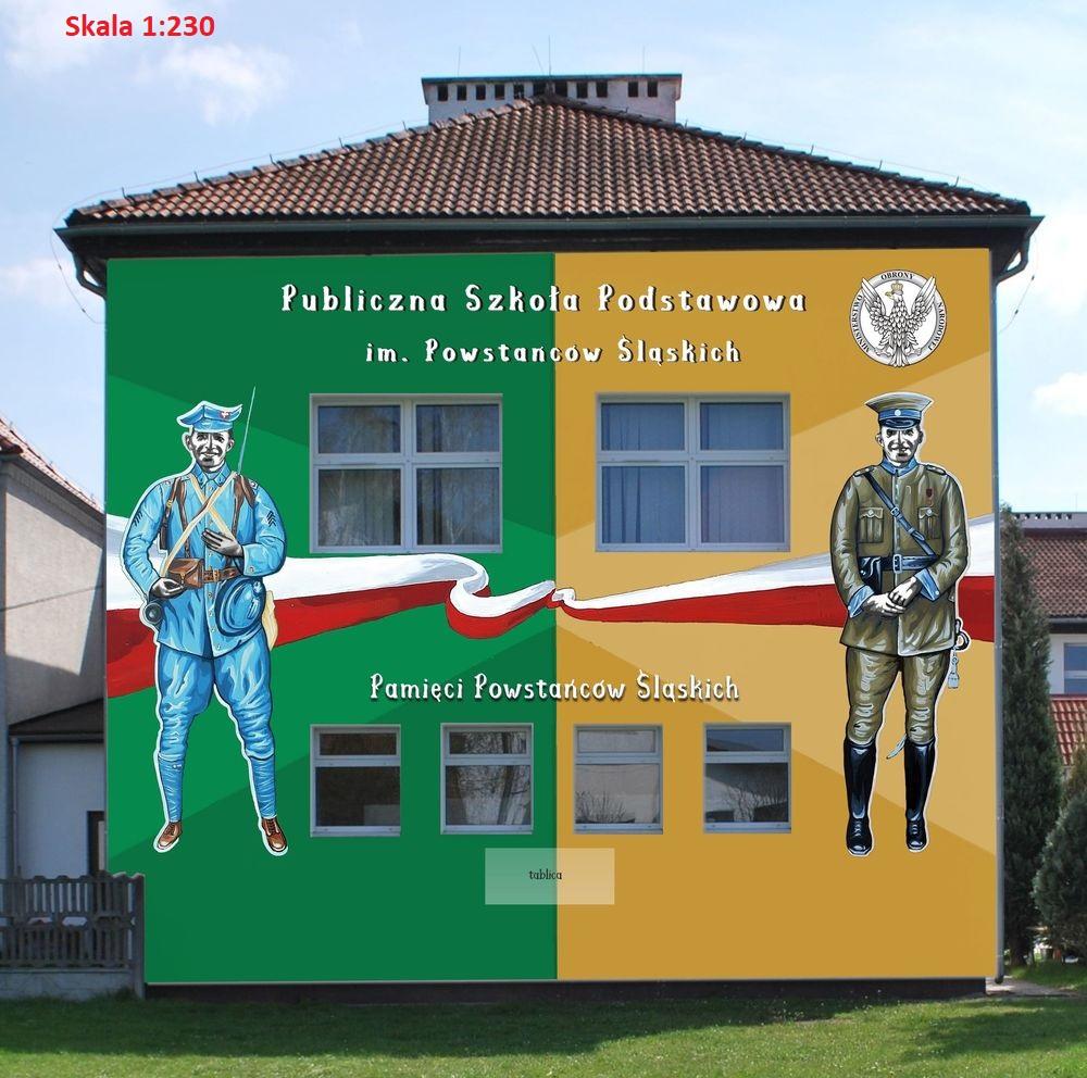 wizualizacja muralu - widok 2